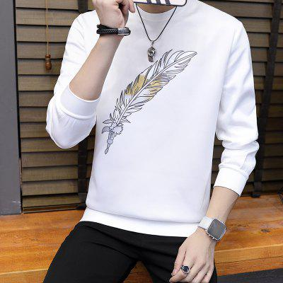 Mens Feather Leisure Air SweatshirtMens Hoodies &amp; Sweatshirts<br>Mens Feather Leisure Air Sweatshirt<br><br>Material: Microfiber, Spandex<br>Package Contents: 1 X Sweatshirt<br>Shirt Length: Regular<br>Sleeve Length: Full<br>Style: Casual<br>Weight: 0.5000kg