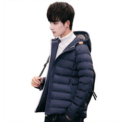Men's Winter Short Paragraph Cotton Coat