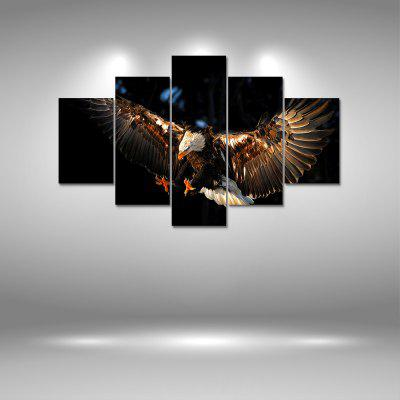 Soar Hawk Canvas Print Painting Home Decoration Wall Art Picture 5PCS