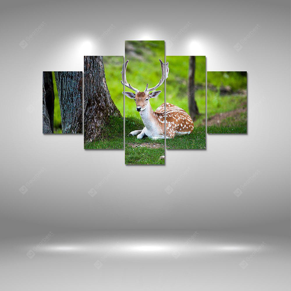 Summer Deer Canvas Print Painting Home Decoration Wall Art Picture 5PCS