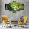 Summer Deer Canvas Print Painting Home Decoration Wall Art Picture 5PCS - COLORMIX