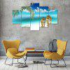 Tiger at Beach Canvas Print Painting Home Decoration Wall Art Picture 5PCS - COLORMIX