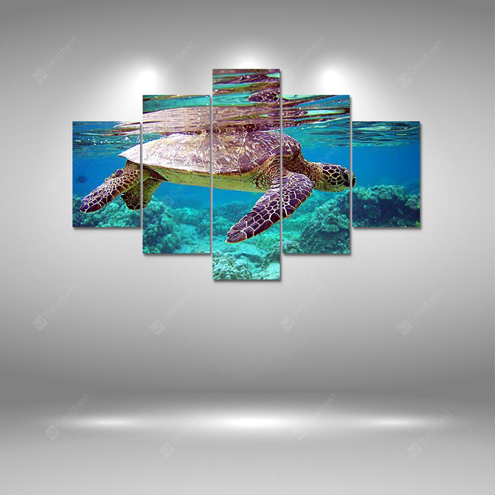 Turtle Simming Canvas Print Painting Home Decoration Wall Art Picture 5PCS