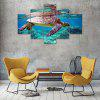 Turtle Simming Canvas Print Painting Home Decoration Wall Art Picture 5PCS - COLORMIX