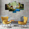 Stream Deers Canvas Print Painting Home Decoration Wall Art Picture 5PCS - COLORMIX