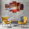 Red Woods Canvas Print Painting Home Decoration Wall Art Picture 5PCS - COLORMIX