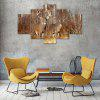 Overlooking The Deer Canvas Print Painting Home Decoration Wall Art Picture 5PCS - COLORMIX