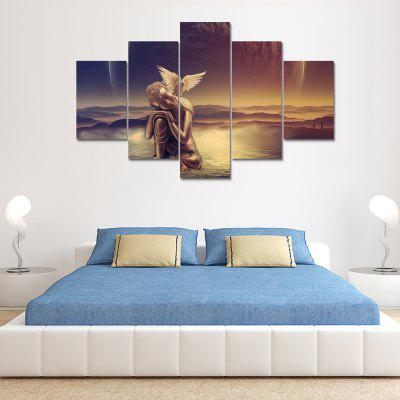 Lovely Buddha Angel Bird Canvas Print Painting Home Decoration Wall Art Picture 5PCS