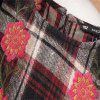 New Lady Embroidered Tartan Dress - CHECKED