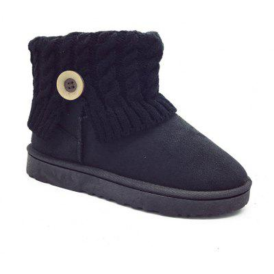 New Autumn and Winter Flat Snow Boots