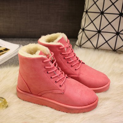 Winter Korean Plus Velvet Snow Boots Fashion WildWomens Boots<br>Winter Korean Plus Velvet Snow Boots Fashion Wild<br><br>Boot Height: Ankle<br>Boot Type: Snow Boots<br>Closure Type: Lace-Up<br>Gender: For Women<br>Heel Height: 2<br>Heel Height Range: Flat(0-0.5)<br>Heel Type: Flat Heel<br>Insole Material: EVA<br>Lining Material: Plush<br>Outsole Material: Rubber<br>Package Contents: 1?Shoes?pair?<br>Pattern Type: Solid<br>Platform Height: 2<br>Season: Spring/Fall, Winter<br>Shoe Width: Medium(B/M)<br>Toe Shape: Round Toe<br>Upper Material: Flock<br>Weight: 1.8000kg
