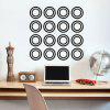 DSU DIY Circle Wall Stickers Home Decor Living Room - BLACK