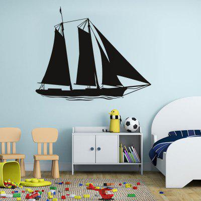 DSU Sailing Boat Removable PVC House Decor Wall Sticker