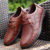 New Design High Quality Genuine Leather Business Fashion Warm Shoes - WINE RED