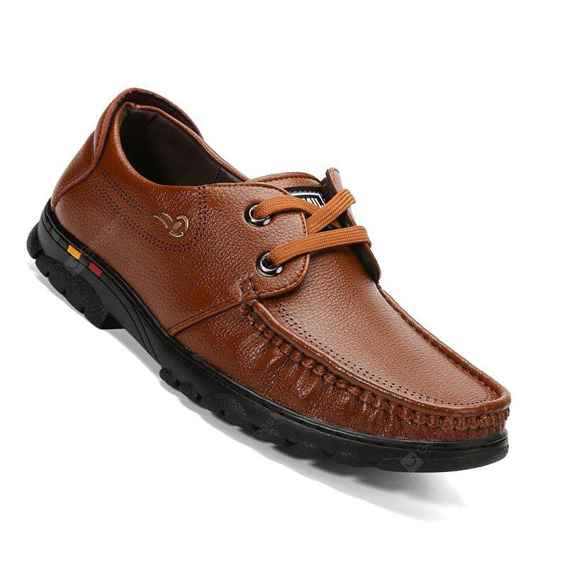 New Design High Quality Genuine Leather Business Fashion Warm Lace Up Shoes