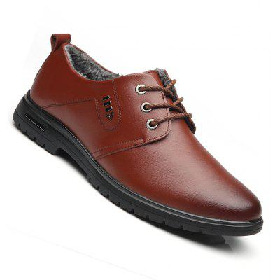 New Design High Quality Genuine Leather Business Fashion Suede Warm Shoes
