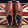 New Design High Quality Genuine Leather Business Fashion Suede Warm Shoes - WINE RED