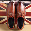 New Design High Quality Genuine Leather Business Fashion Shoes - WINE RED