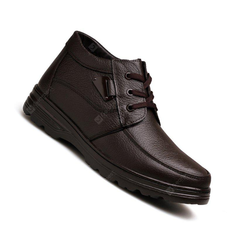 Men New Design High Quality Genuine Leather Business Fashion Ankle Shoes