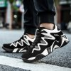 Men Casual New Design Walking Classic Fashion Leather Outdoor Shoes - BLACK