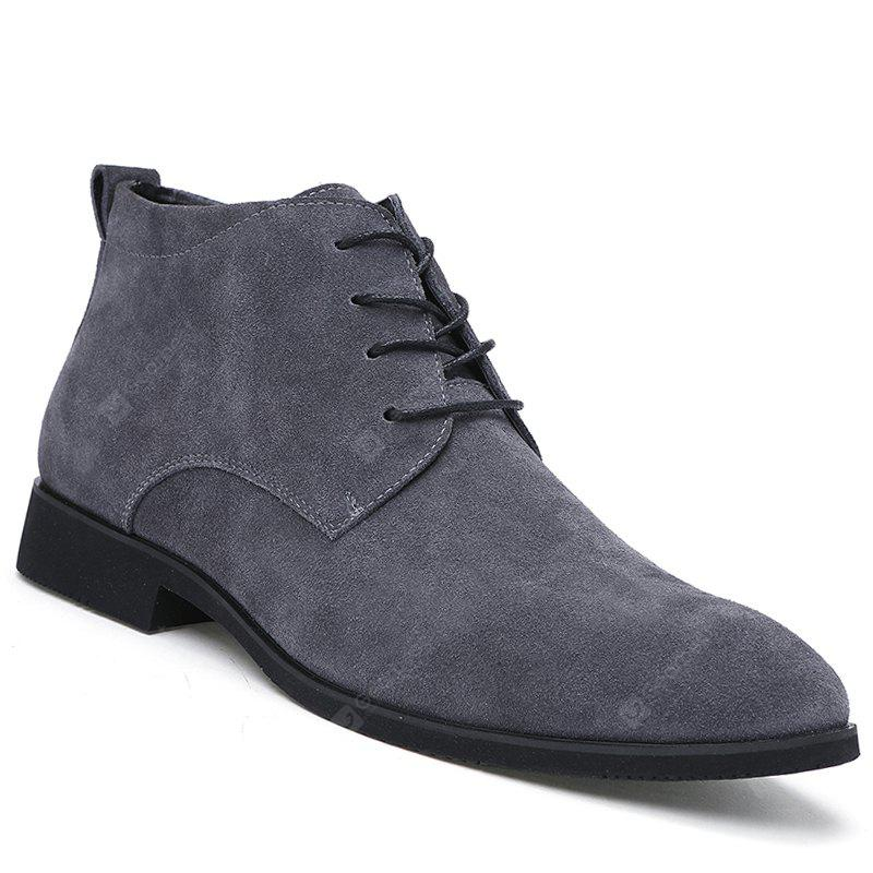 Fashion Genuine Leather Men Shoes Lace Up Formal Casual Business Wedding Boots
