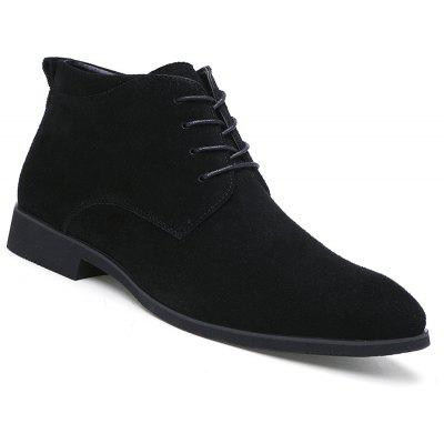 Fashion Genuine Leather Men Lace Up Formal Casual Business Warm Wedding Boots