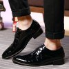 Men Business Gentle Wedding Dress Official Casual British Shoes - BLACK