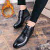 Business Warm Leather Gentle Lace Up  Shoes Official Casual British - BLACK