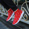 High Top Men Casual Shoes Slip On Male Fashion Footwear Walking Gumshoes - RED