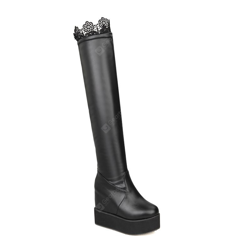 Thick Bottom Stovepipe Sexy Boots