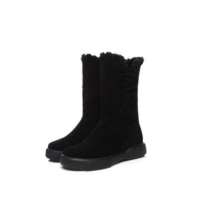 Plush Warm and Cold Proof Flat Top Leisure Short Boots Snow BootsWomens Boots<br>Plush Warm and Cold Proof Flat Top Leisure Short Boots Snow Boots<br><br>Boot Height: Mid-Calf<br>Boot Type: Fashion Boots<br>Closure Type: Slip-On<br>Gender: For Women<br>Heel Height: 3<br>Heel Height Range: Low(0.75-1.5)<br>Heel Type: Flat Heel<br>Insole Material: PU<br>Lining Material: Plush<br>Outsole Material: Rubber<br>Package Contents: 1xShoes?pair?<br>Pattern Type: Solid<br>Platform Height: 3<br>Season: Spring/Fall, Winter<br>Shoe Width: Wide(C/D/W)<br>Toe Shape: Round Toe<br>Upper Material: Microfiber<br>Weight: 0.8800kg