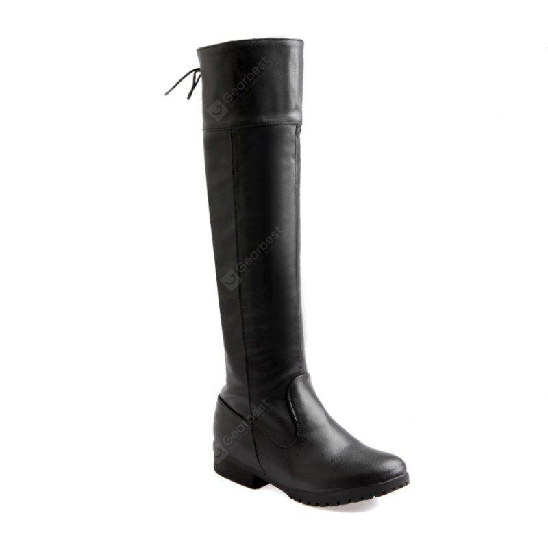 Leisure After Lacing Flat Boots Repair Legs Two Wear Boots
