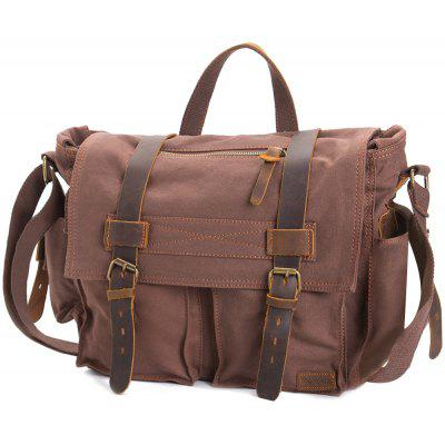 AUGUR Fashion Men HandBag Vintage Canvas Male Travel Shoulder Crossbody Vintage Military Bag