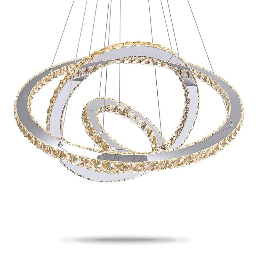 LED Ring Crystal Indoor Pendant Light for Dining Living Room Hotel