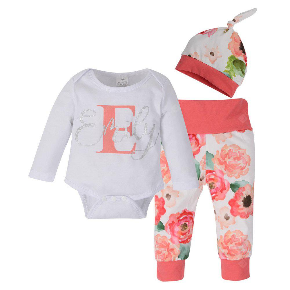 Newborn Toddler Baby  Romper Tops +  Pants + Hat 3Pcs Outfit Clothes Set