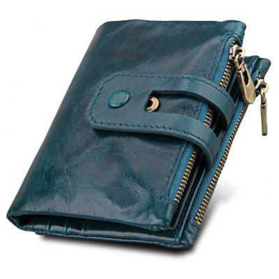 Short Genuine Leather Cowhide Men Wallet