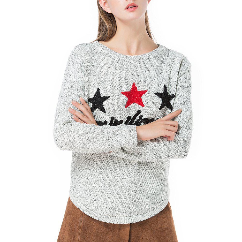 Women's Sweater Star Pattern Long Sleeve Casual Knitwear