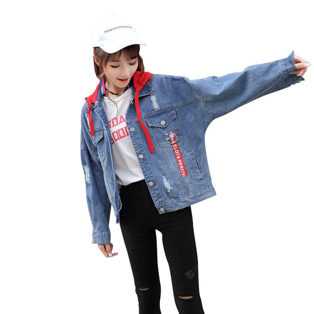 The Autumn Wind, Korean Students BF Harajuku Loose Denim Jacket All-Match Female