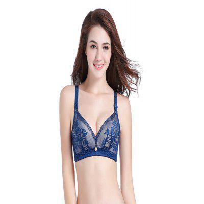 Hollow Knitted Bra Lace Adjustable Sexy Lady Underwear