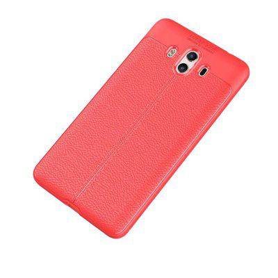 Super Silicone Sleeve Dermatoglyph Luxury Retro TPU Leather Case for HUAWEI Mate 10