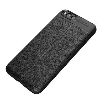 Super Silicone Sleeve Dermatoglyph Luxury Retro TPU Leather Case for Xiaomi 6