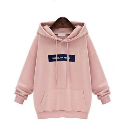 Buy PINK M Sets and Pile Cap Letters Fleece Hoodie for $36.03 in GearBest store