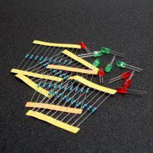 50Pcs 1/4W Resistor and Led Kit for Arduino / Raspberry Pi