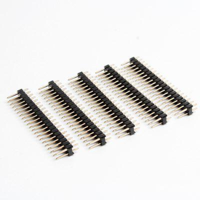 5Pcs Break-away 2x20-pin Strip Dual Male Header for Raspberry Pi Zero GPIO