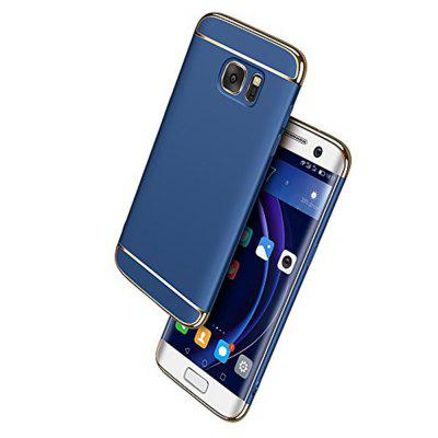 Luxury Plating 360 Full Protective Case 3 in 1 Black Matte Hard Phone Cover for Samsung Galaxy S7 Edge
