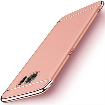 Buy ROSE GOLD Luxury Plating 360 Full Protective Case 3 in 1 Black Matte Hard Phone Cover for Samsung Galaxy S7 Edge for $5.00 in GearBest store