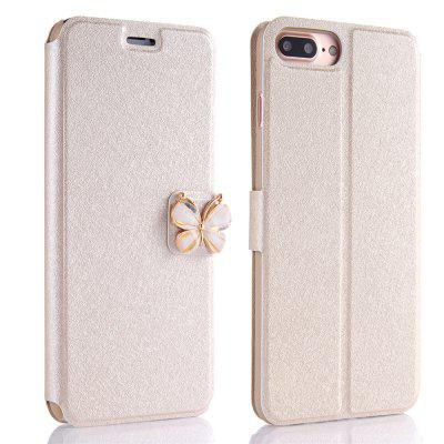 Buy GOLDEN Luxury Leather Wallet Stand Flip Case Fashion Bling Diamond Butterfly Bow Knot Cover Slot Card for iPhone 8 Plus / 7 Plus for $4.14 in GearBest store