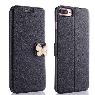 Buy BLACK Luxury Leather Wallet Stand Flip Case Fashion Bling Diamond Butterfly Bow Knot Cover Slot Card for iPhone 8 Plus / 7 Plus for $4.14 in GearBest store