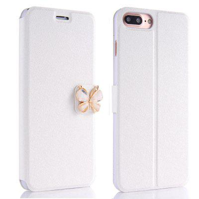 Buy WHITE Luxury Leather Wallet Stand Flip Case Fashion Bling Diamond Butterfly Bow Knot Cover Slot Card for iPhone 8 Plus / 7 Plus for $4.14 in GearBest store