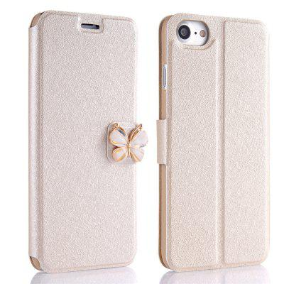 Buy GOLDEN Luxury Leather Wallet Stand Flip Fashion Bling Diamond Butterfly Bow Knot Cover Slot Card for iPhone 8 / 7 Case for $4.14 in GearBest store